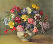 Still Life of Mixed Flowers in a Vase